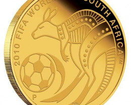 2010 FIFA World Cup South Africa 0.5g Gold coin  LIST PRICE