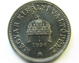 1894 HUNGARIAN 10 FILLER   COIN    CO361