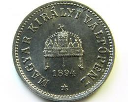 1894 HUNGARIAN 10 FILLER   COIN    CO361