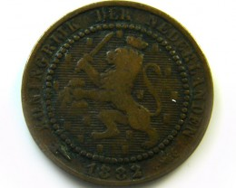 1882 DUTCH  I CENT  COIN     CO365