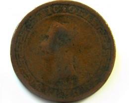 1890 CEYLON PENNY   COIN    CO373