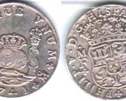 OLD COIN MEXICO-PHILLIP V OF SPAIN 8-REALES PILLAR DOLLAR