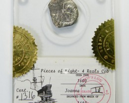 8 REALE COB 1682 FROM JOANA SHIPWRECK   CO 377