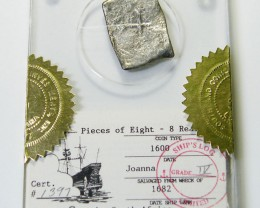 8 REALE COB 1682 FROM JOANA SHIPWRECK   CO 378