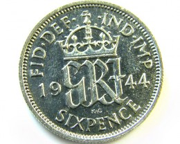 1944 BRITSH SIX PENCE  COIN     CO   981