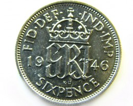 1946 UNC SIXPENCE COIN  CO 405