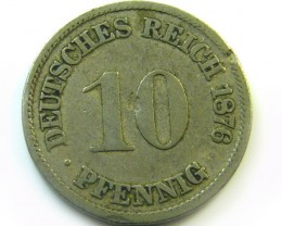 1876 GERMAN 10 PFENNIG   COIN CO 407