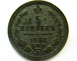 1888 RUSSIA 5 KOPEK COIN   CO 415