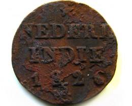 1826 DUTCH  INDIES  1/4 G COIN   CO 417