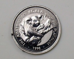 PLATINUM COIN 1/20th KOALA 1998