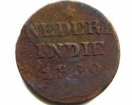 1830 DUTCH ONE CENT COIN  CO 432