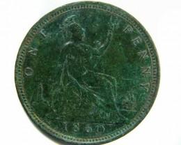 1860 ENGLISH VICTORIA PENNY  CO 442
