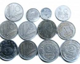 ALUMINIUM PARCEL ITALIAN COINS   J 709