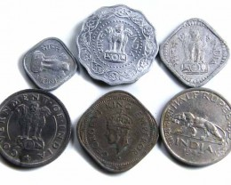 PARCEL MIXED INDIAN COINS 1950s  JO 712