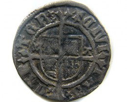 1526-1532  HENRY V111 HALF GROAT GREAT BRITIAN  CO 453
