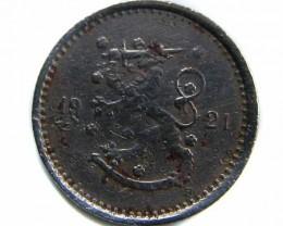 1921 FINLAND 50 PENNIA COIN  CO 510