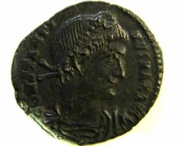 DETAIUED ANCIENT ROMAN  BRONZE FOLLE GLORIA EXERCITVS  COIN  AC 545