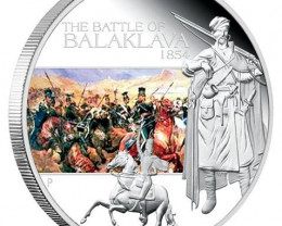 The Battle of Balaklava 1854 1oz Silver Proof Coin