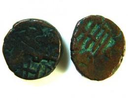 GHAZNAVID BAHRAM 115-57 AD  2 COINS      OP 555
