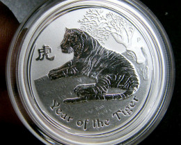 NEW 2010 YEAR OF THE TIGER 1/2 OUNCE SILVER COIN