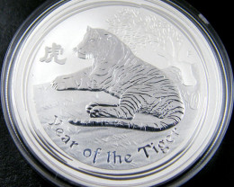 2010 YEAR OF THE TIGER ONE OUNCE SILVER COIN OFFICIAL PRICE