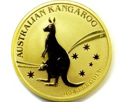 THE AUSTRALIAN KANGAROO 2009 ONE OUNCE 0.9999 PURE GOLD