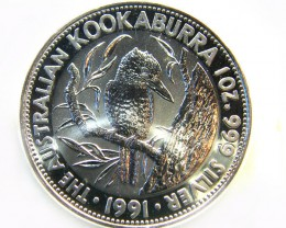 1991 1 OZ.SILVER AUSTRALIAN KOOKABURRA COIN CO -249