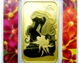 SPOT PRICE PLUS- PERTH MINT 50 GRAMS GOLD BAR 99.99%