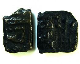 MAURYAN EMPIRE 1-600 AD    2 COINS   OP 568