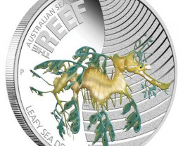Australian Sea Life 1/2oz Silver Proof Leafy Sea Dragon Coin