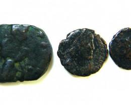 THREE PROVINCIAL ROMAN COINS         OP 643