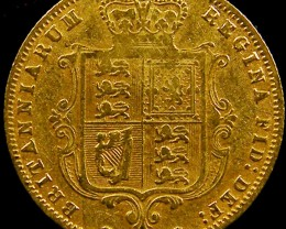 1877 HALF SOVERIGN  GOLD COIN DIE 105   CO603
