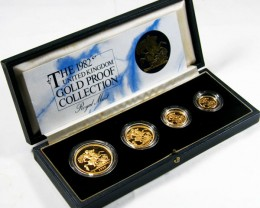 THE 1982 UNITED KINGDOM GOLD PROOF COLLECTION CO 606