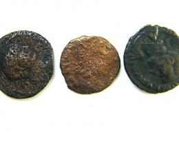 THREE PROVINCIAL ROMAN COINS         OP 647