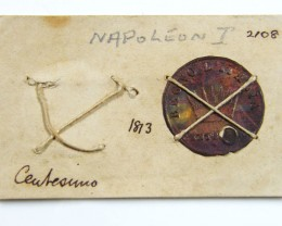MUSEUM ARCHIVAL NAPOLEON CENTESIMO DATED 1813  CO 619