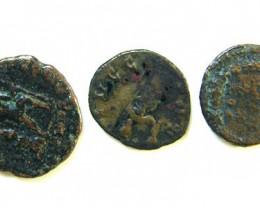 THREE PROVINCIAL ROMAN COINS         OP 648