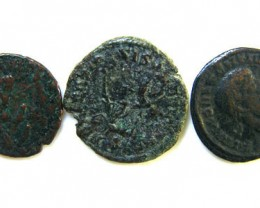 THREE PROVINCIAL ROMAN COINS         OP 649