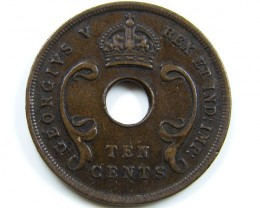 EAST ARICA 1923 10 CENTS COIN CO 648