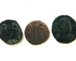 THREE PROVINCIAL ROMAN COINS         OP 653