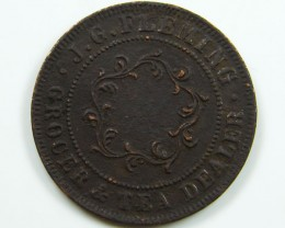 1874 HOBART TOWN ONE PENNY CO 657