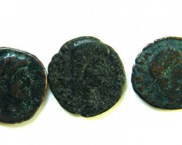THREE PROVINCIAL ROMAN COINS         OP 654