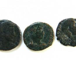 THREE PROVINCIAL ROMAN COINS         OP 655