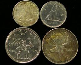 PARCEL FOUR CANADIAN  COINS     J 732