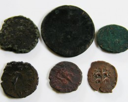 PARCEL 6 MIXED ANCIENT ROMAN COINS  AC 603