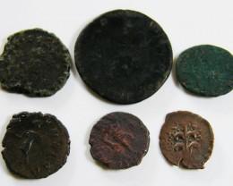 PARCEL 6 MIXED ANCIENT ROMAN COINS  AC 603