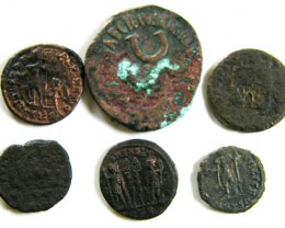 PARCEL 6 MIXED ANCIENT ROMAN COINS  AC 604