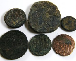 PARCEL 6 MIXED ANCIENT ROMAN COINS  AC 605