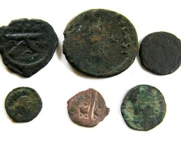 PARCEL 6 MIXED ANCIENT ROMAN COINS  AC 606