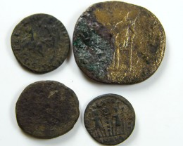PARCEL 4 MIXED ANCIENT ROMAN COINS  AC 611
