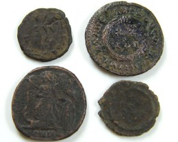 PARCEL 4 MIXED ANCIENT ROMAN COINS  AC 612